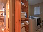 Keep your belongings fresh and clean by using utilizing the laundry room.