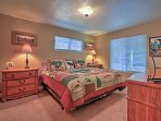 Cuddle up in the master bedroom's king bed.