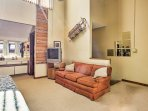 Create additional sleeping space with the sleeper sofa.