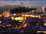 Vista nocturna de Antequera.