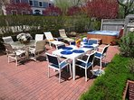 Plenty of outdoor seating - gas grill- outdoor shower -all for your enjoyment- 201 Main Street Chatham Cape Cod New...