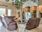 There's plenty of space to relax in the living area.