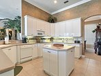 The spacious, fully equipped kitchen offers everything you'll need to prepare tasty meals.