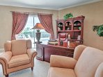 Complete any last-minute work in the master bedroom's office area.