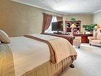 The expansive master bedroom has plenty of space to spread out.