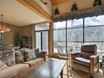 The living room is the perfect spot to relax after a day on the slopes.