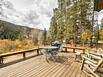 Enjoy mountain views from the private deck.