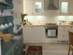Kitchen with all mod cons including integrated dishwasher and washing machine