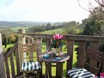 The balcony offers stunning views across The Blackmore Vale