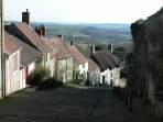 Gold Hill in Shaftesbury - Dorset's Saxon hilltop town