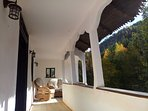 The top porch is the ideal place to spend your waking hours, or relax absorbing the peace and views