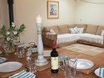The communal barn between Russet & Pippin provides a convivial space for larger parties