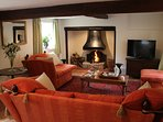 Foley's Cottage's highly attractive beamed sitting room