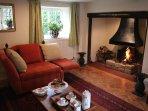 The cottage still has its impressive inglenook fireplace