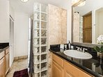 Lovely Bathroom with Shower and Cabinet Space for Storage