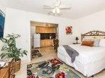 Hawaiiana Queen Bedroom with Ceiling Fan