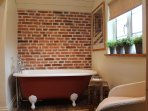 ....with Victorian, roll-top bath