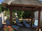 Relax in the shade under the gazebo