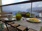 Breakfast with Sea Views in a very calm area.