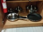 Pots and pans if you want to make breakfast or any other meal