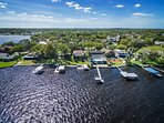 Aerial of wonderful Lake Tarpon