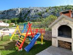 Playground for your youngest at barbecue area