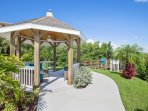 Relax in this covered gazebo