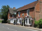 The White Hart pub serving excellent pub food in the High Street, 2 minute walk from property