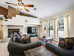 Plush furniture and huge HD TV for family time watching your favorite movies or sporting events