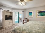 Views of the ocean from your king bed master suite