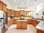 One of the nicest and largest kitchens possible in a vacation home
