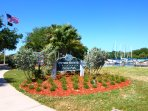 Walk to the park and marina with the pier into Tampa Bay