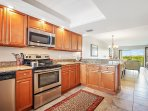 Granite kitchen and stainless steel appliances. Hurry and book now before someone else does