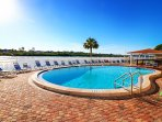 This stunning pool is right on the inter coastal waterway
