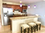 OPEN KITCHEN WITH SNACK BAR
