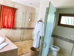 MASTER BATHROOM WITH ITALIAN SHOWER AND SEPARATE TOILETS