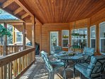 Spend quality family time on the spacious covered porch.