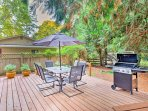Utilize the gas grill to cook a meal for your loved ones to enjoy al fresco.