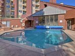 Take full advantage of the various community amenities, including this outdoor swimming pool.