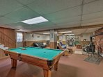 Grab a cue and take on all challengers at the pool table.