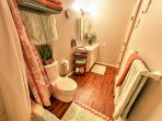 Two bedrooms share a Jack-and-Jill bathroom.