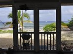 View from inside the veranda.