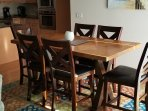 new counter height dining table with seating for 6