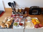 Self catering breakfast from chf 6 per person (contents vary)