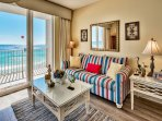 Majestic Sun 704B - Living Room with a Gulf View