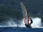 Windsurfing lake Bracciano