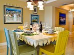 Seating for four at the dining table