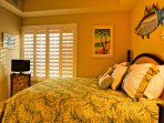 Beach decor and views from the guest bedrooms