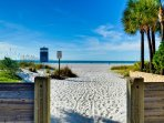 Beachfront location puts you paces away from the famous white sands of Clearwater Beach