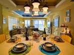 Dining table shares view of the Gulf of Mexico